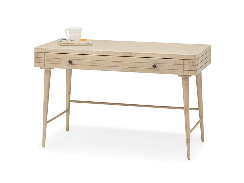 Clever Bubba blonde oak grooved writing desk