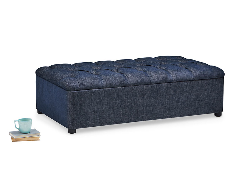Bed in a Button hideaway bed footstool