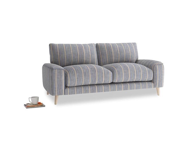 Small Strudel Sofa in Brittany Blue french stripe
