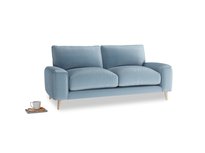 Small Strudel Sofa in Chalky blue vintage velvet
