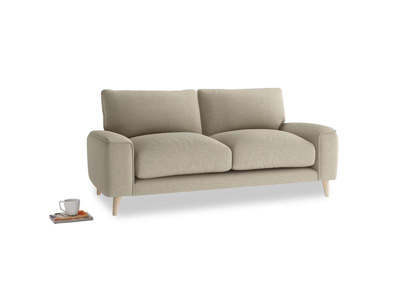 Small Strudel Sofa in Jute vintage linen