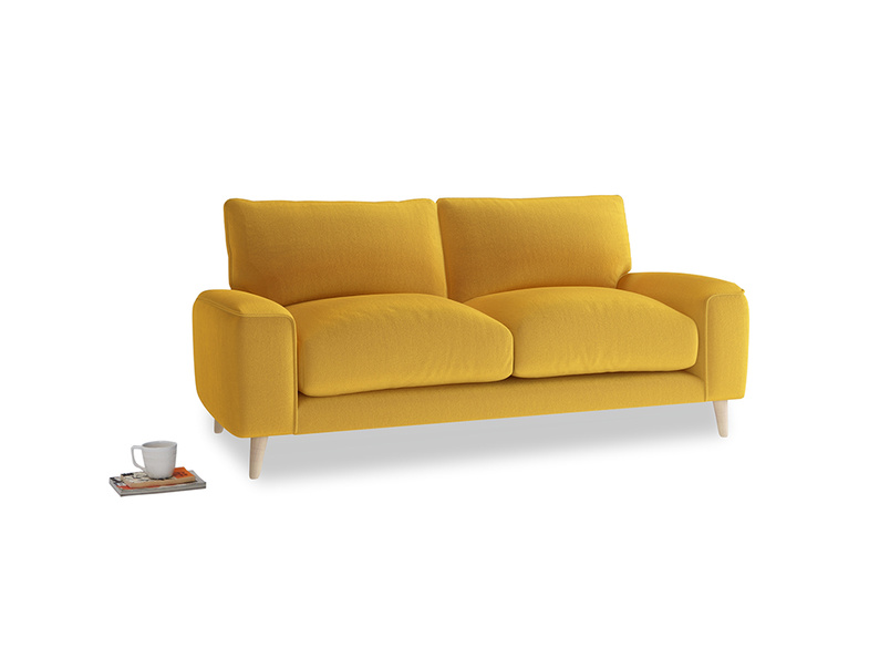 Small Strudel Sofa in Pollen Clever Deep Velvet