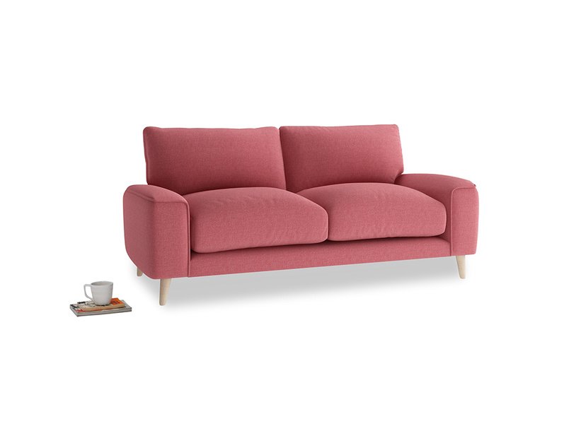 Small Strudel Sofa in Raspberry brushed cotton