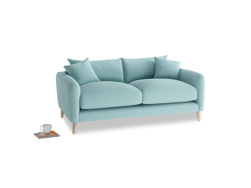 Small Squishmeister Sofa in Adriatic washed cotton linen