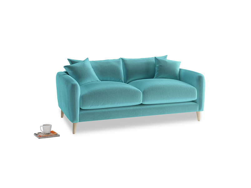 Small Squishmeister Sofa in Belize clever velvet