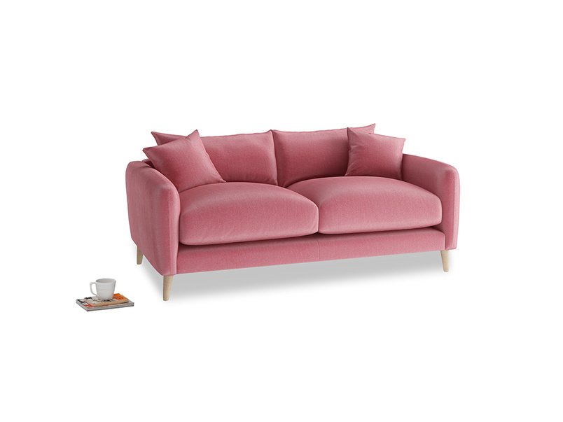 Small Squishmeister Sofa in Blushed pink vintage velvet