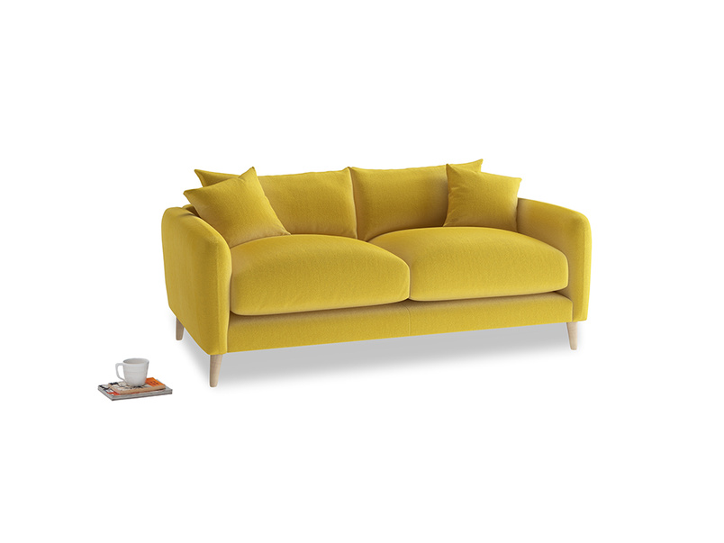 Small Squishmeister Sofa in Bumblebee clever velvet