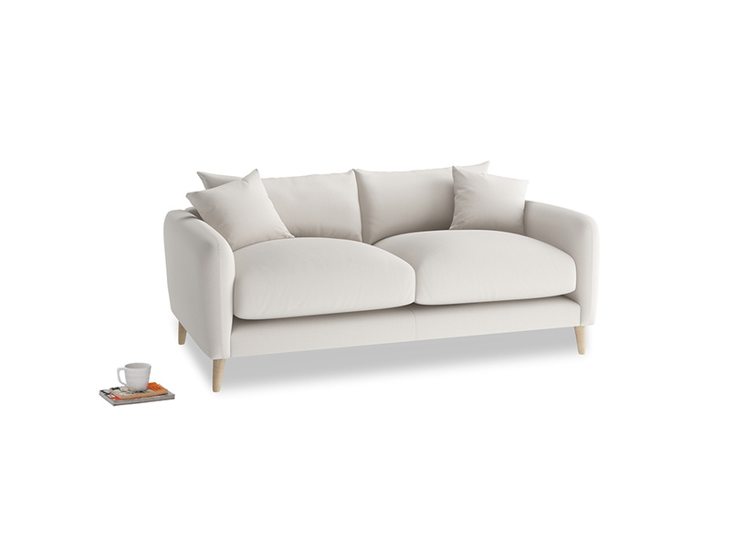 Small Squishmeister Sofa in Chalk clever cotton