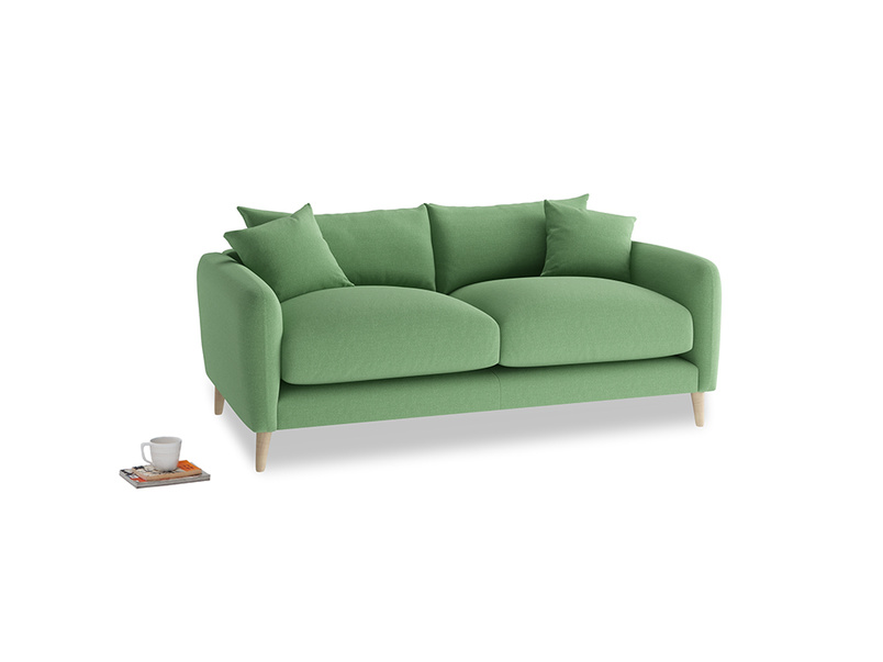 Small Squishmeister Sofa in Clean green Brushed Cotton