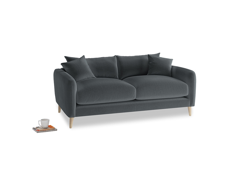 Small Squishmeister Sofa in Dark grey Clever Deep Velvet