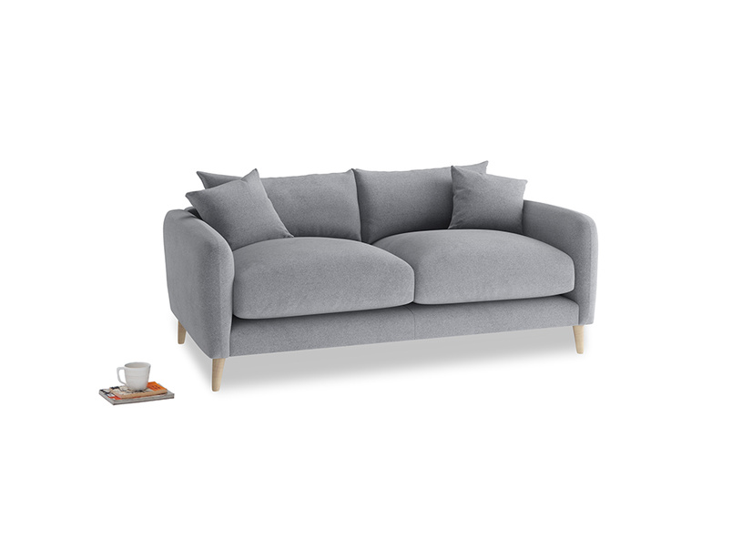 Small Squishmeister Sofa in Dove grey wool