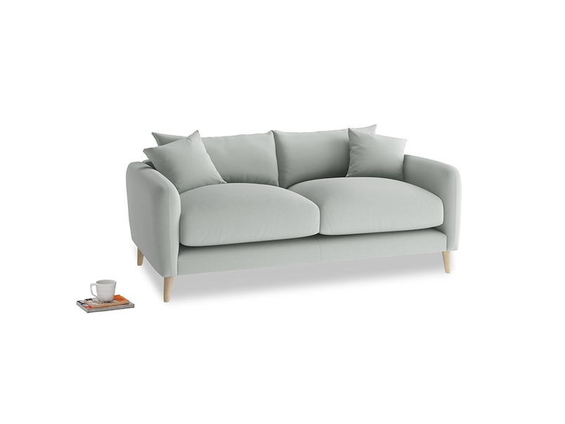 Small Squishmeister Sofa in Eggshell grey clever cotton