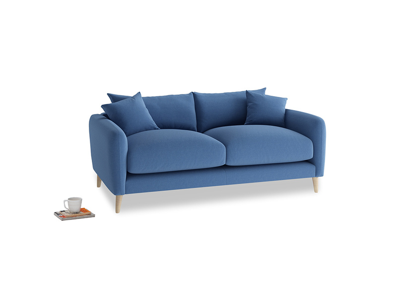 Small Squishmeister Sofa in English blue Brushed Cotton