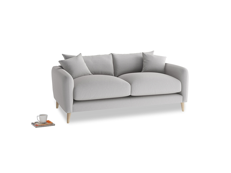 Small Squishmeister Sofa in Flint brushed cotton