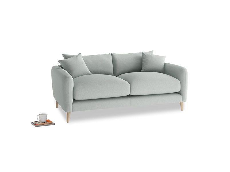 Small Squishmeister Sofa in French blue brushed cotton