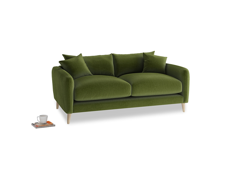 Small Squishmeister Sofa in Good green Clever Deep Velvet