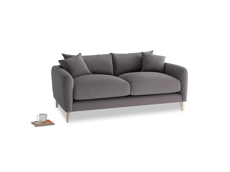 Small Squishmeister Sofa in Graphite grey clever cotton
