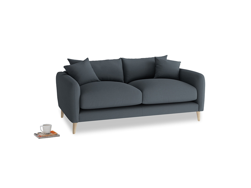 Small Squishmeister Sofa in Lava grey clever linen