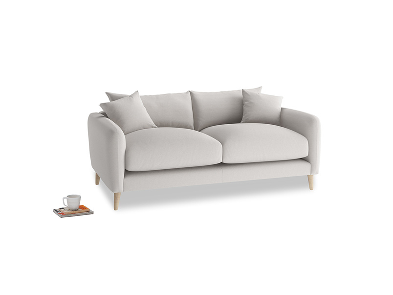 Small Squishmeister Sofa in Lunar Grey washed cotton linen