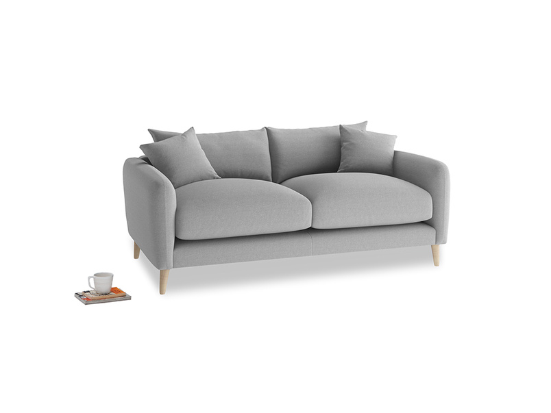 Small Squishmeister Sofa in Magnesium washed cotton linen