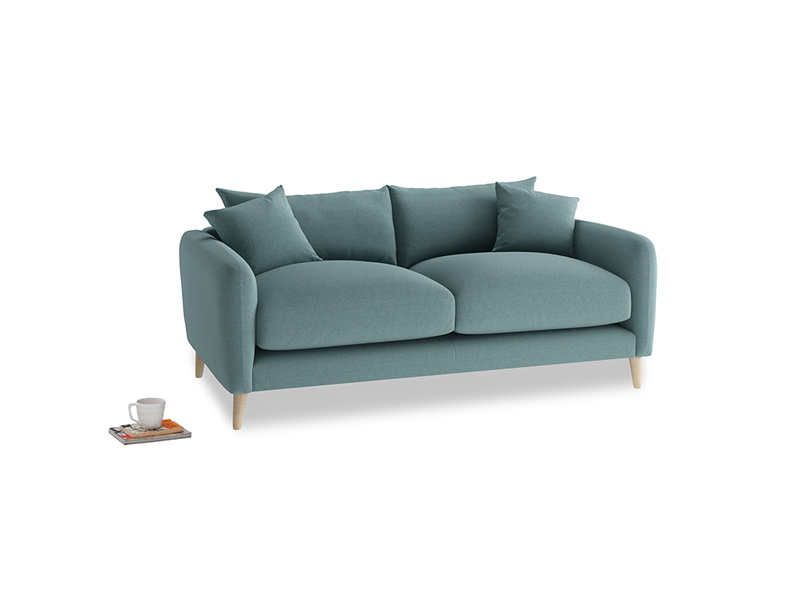 Small Squishmeister Sofa in Marine washed cotton linen