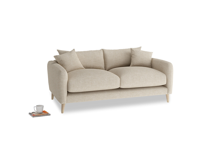 Small Squishmeister Sofa in Flagstone clever woolly fabric