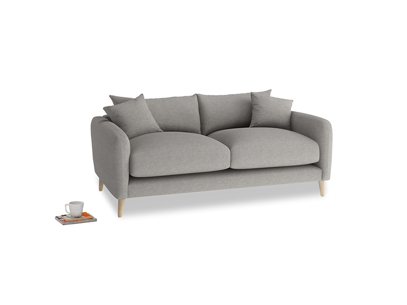 Small Squishmeister Sofa in Marl grey clever woolly fabric