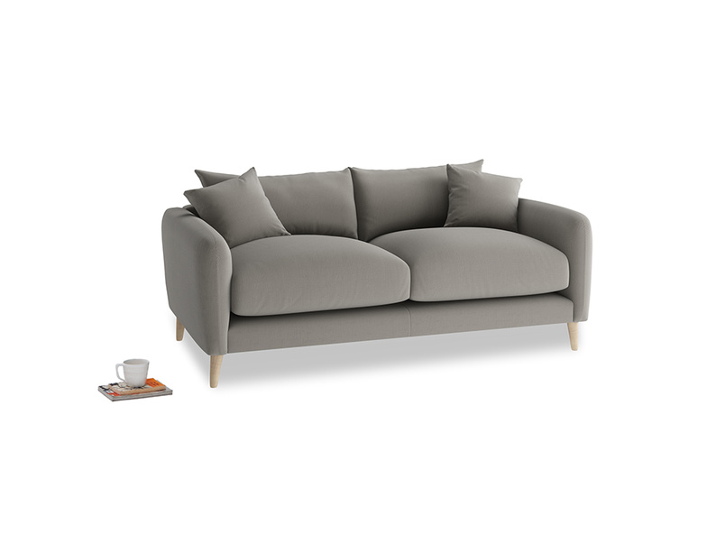 Small Squishmeister Sofa in Monsoon grey clever cotton