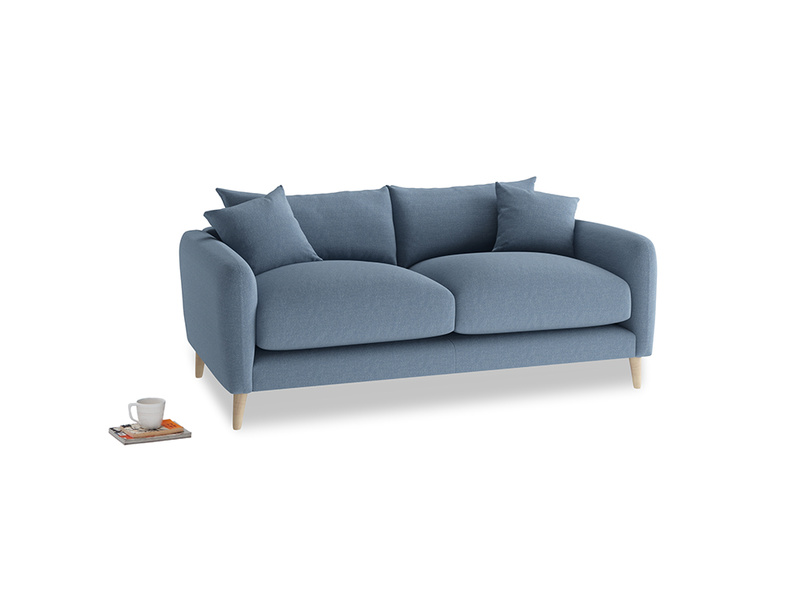 Small Squishmeister Sofa in Nordic blue brushed cotton