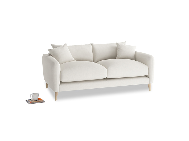 Small Squishmeister Sofa in Oyster white clever linen