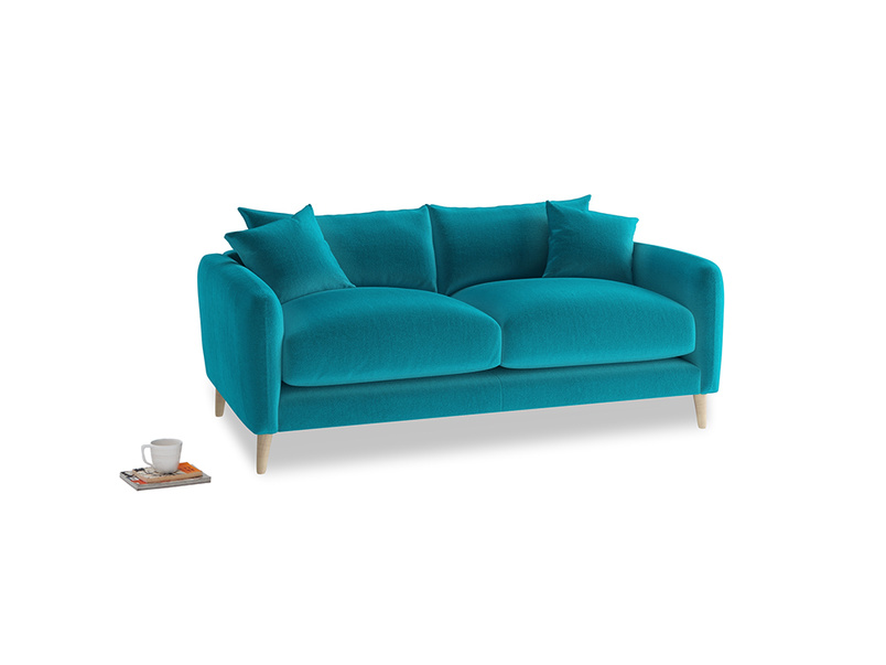 Small Squishmeister Sofa in Pacific Clever Velvet