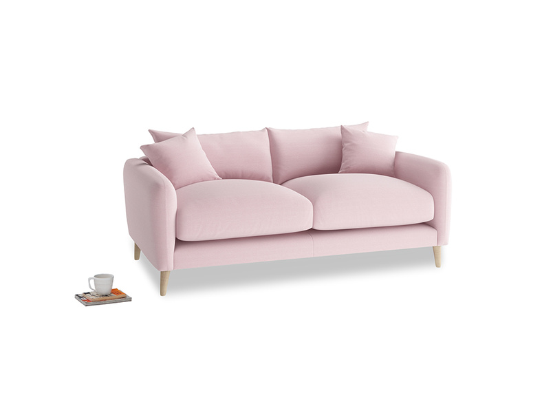 Small Squishmeister Sofa in Pale Rose vintage linen