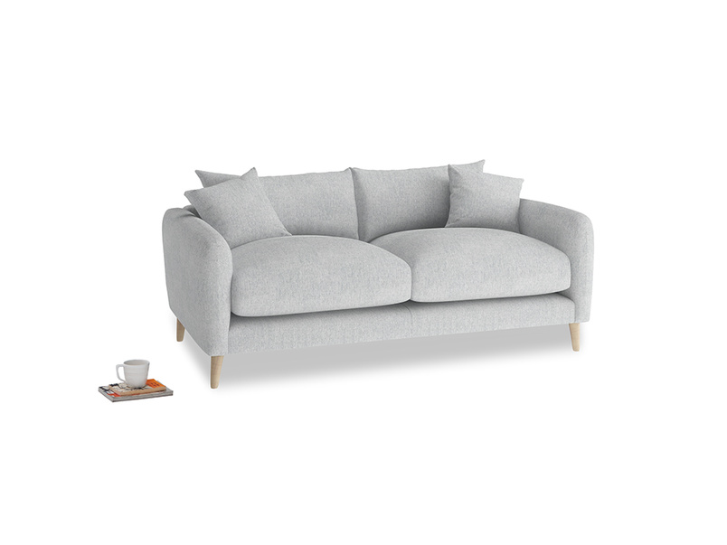 Small Squishmeister Sofa in Pebble vintage linen