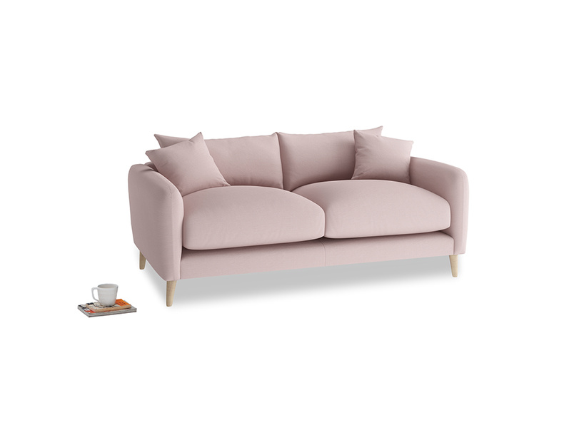 Small Squishmeister Sofa in Potter's pink Clever Linen