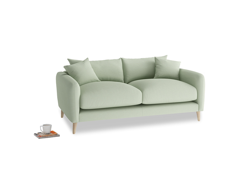 Small Squishmeister Sofa in Powder green Clever Linen