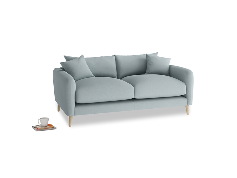 Small Squishmeister Sofa in Quail's egg clever linen