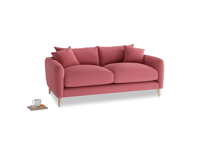Small Squishmeister Sofa in Raspberry brushed cotton