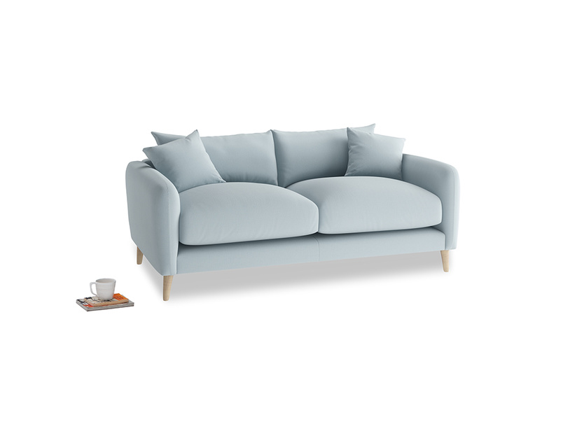 Small Squishmeister Sofa in Scandi blue clever cotton