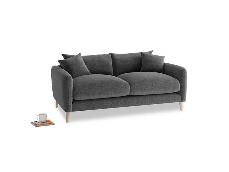 Small Squishmeister Sofa in Shadow Grey wool