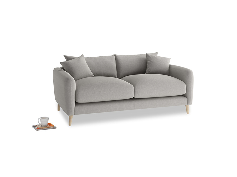 Small Squishmeister Sofa in Wolf brushed cotton