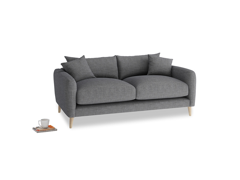 Small Squishmeister Sofa in Strong grey clever woolly fabric