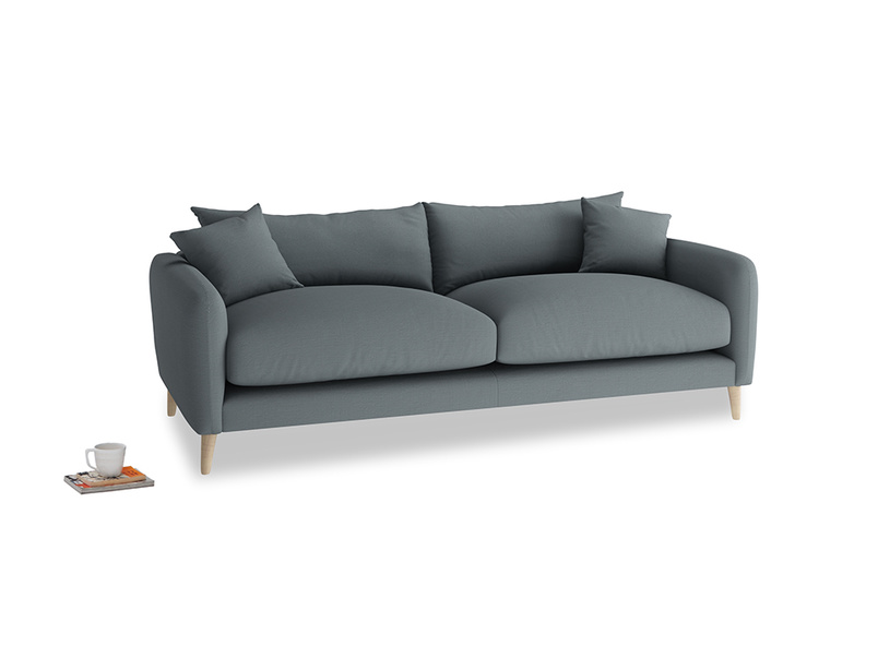 Medium Squishmeister Sofa in Meteor grey clever linen