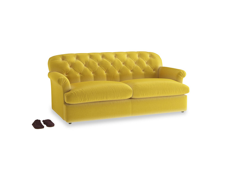 Large Truffle Sofa Bed in Bumblebee clever velvet