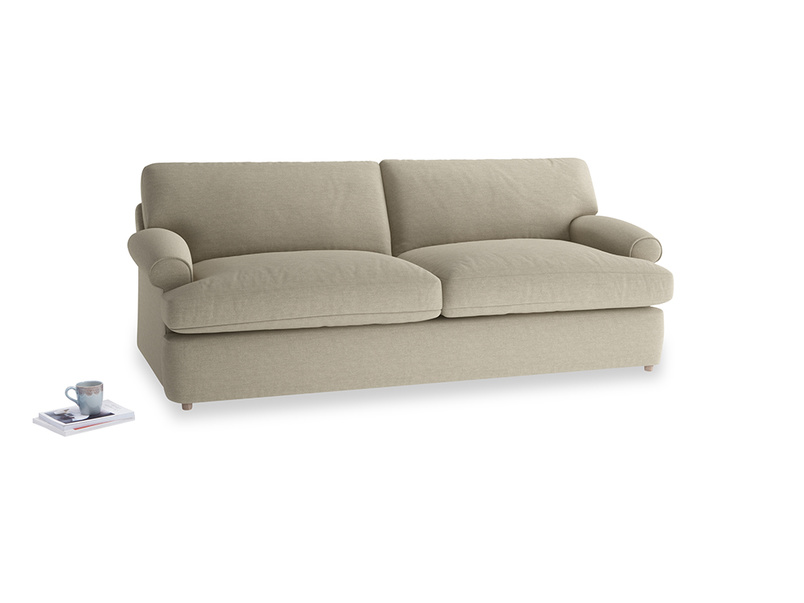 Large Slowcoach Sofa Bed in Jute vintage linen