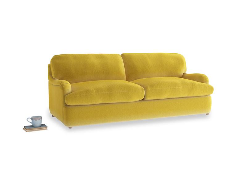 Large Jonesy Sofa Bed in Bumblebee clever velvet