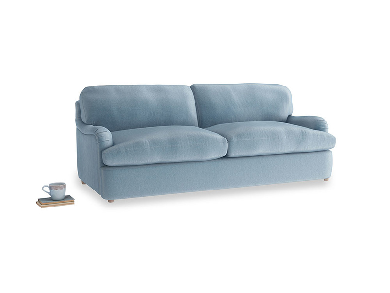 Large Jonesy Sofa Bed in Chalky blue vintage velvet