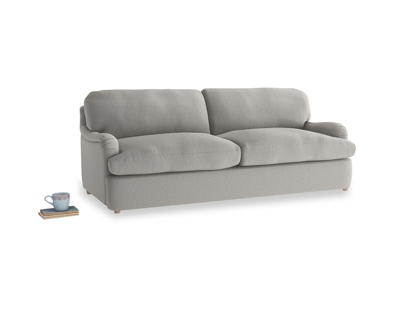 Large Jonesy Sofa Bed in Wolf brushed cotton