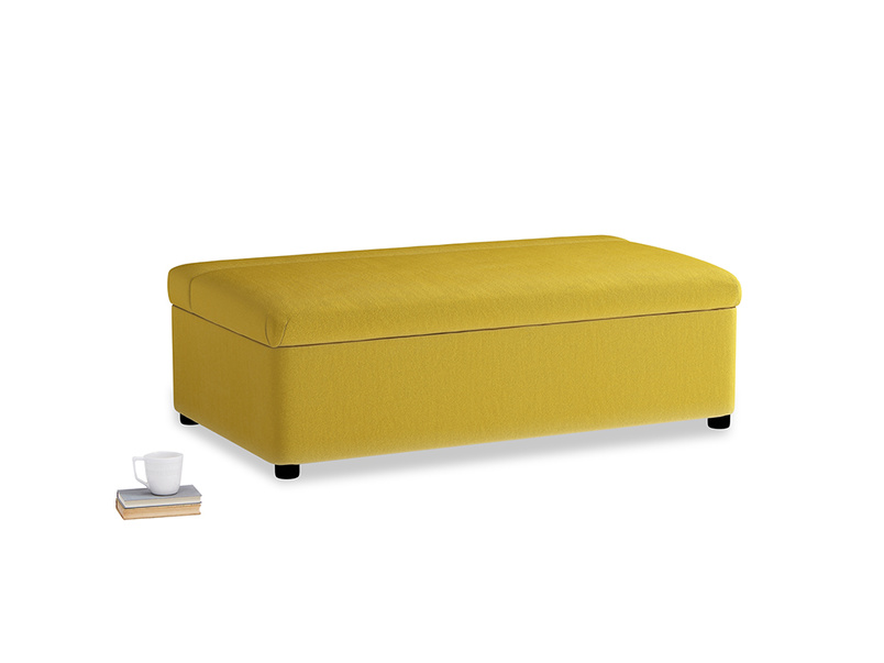 Double Bed in a Bun in Bumblebee clever velvet