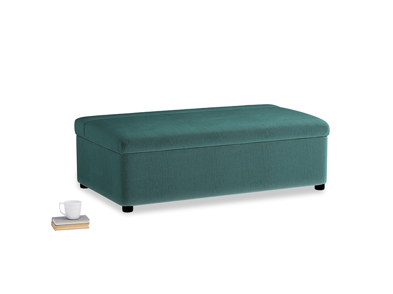 Double Bed in a Bun in Real Teal clever velvet