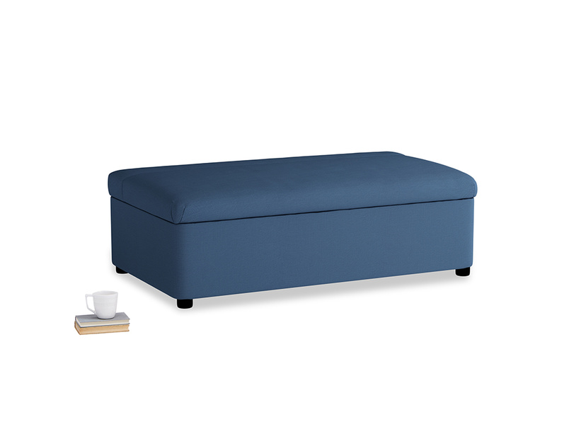 Double Bed in a Bun in True blue Clever Linen